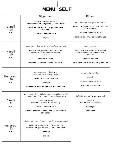 menu 18 mai