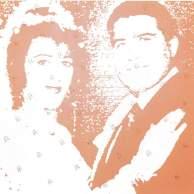 Ghada Amer, Les mariés, 1995, acrylique et broderie sur toile