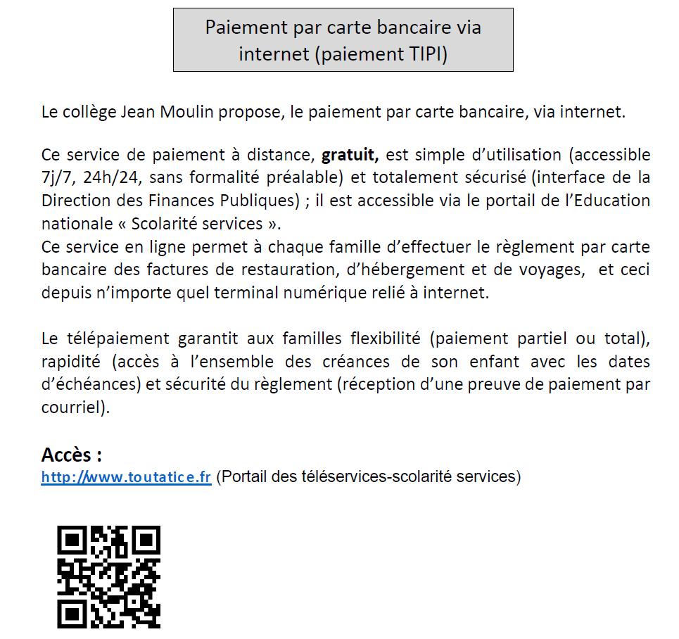 carte bancaire collège