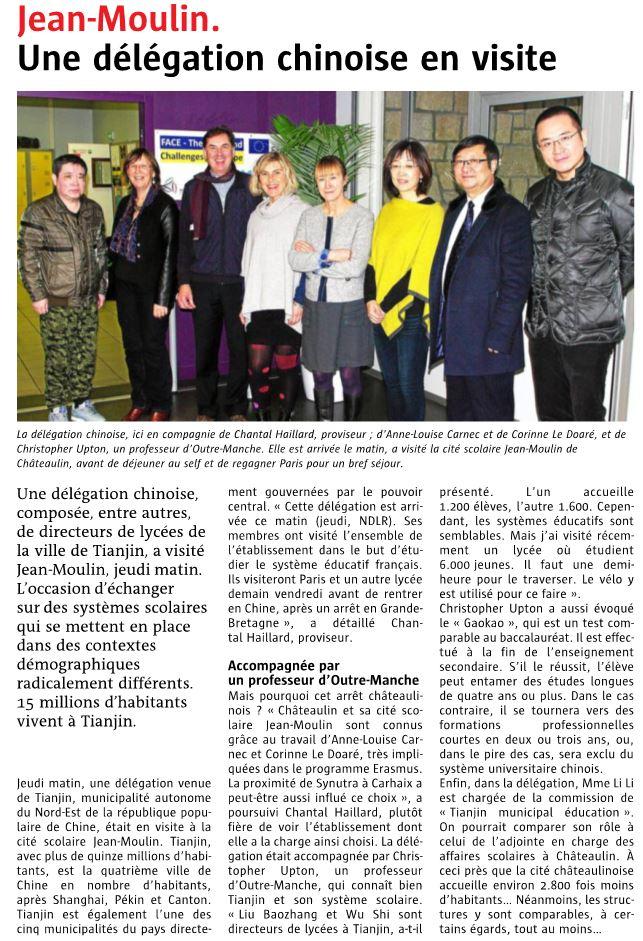 Visite délégation Chinoise
