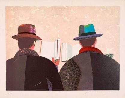 Arroyo Eduardo, La fête du livre, 1982, lithographie