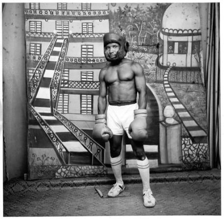 Sidibe Malik, jeune boxeur, photographie, 1962-1976